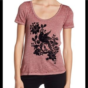 Lucky Brand | Flocked Bird Tee